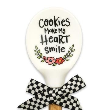 Cookies Make My Heart Smile Silicone Head Spoon