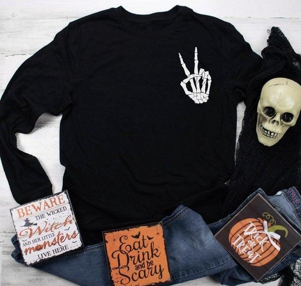 Peace Mama Bone Hand Sweatshirt Graphic Sweatshirt