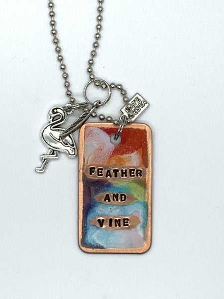 ONLY 2 LEFT! Kate Mesta Feather and Vine Necklace