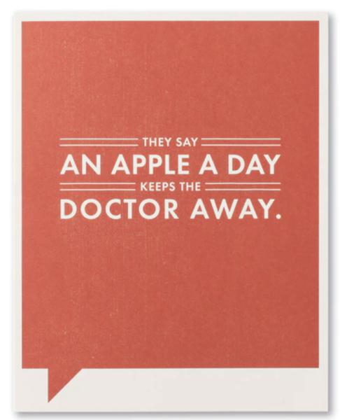 An Apple A Day...card