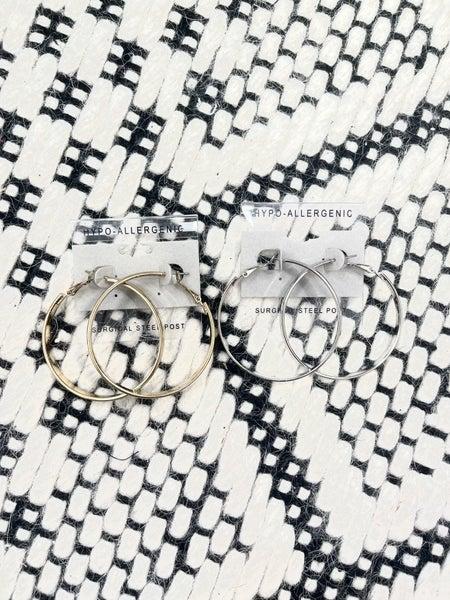 Simple Hoop Hypoallergenic Earrings