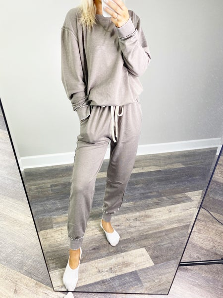 """Had Them Since College"" Gray Stone Joggers"