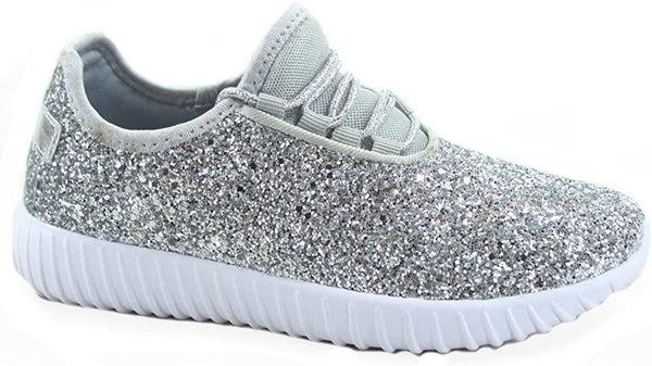 SIZE 6 & 7.5 ONLY - Glitter Silver Sneaker