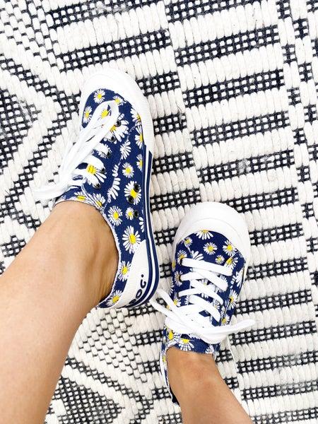 Jazzin Navy Daisy Sneaker