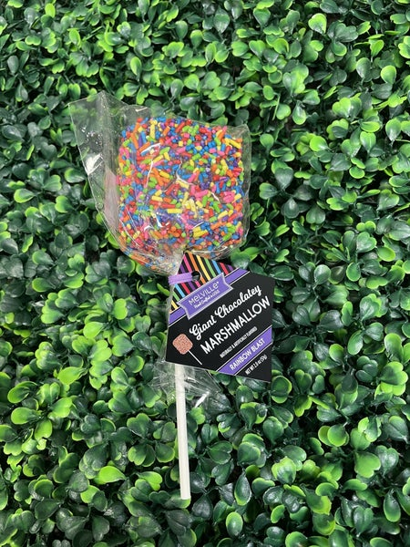 Giant Dipped, Rainbow Sprinkled Marshmallow
