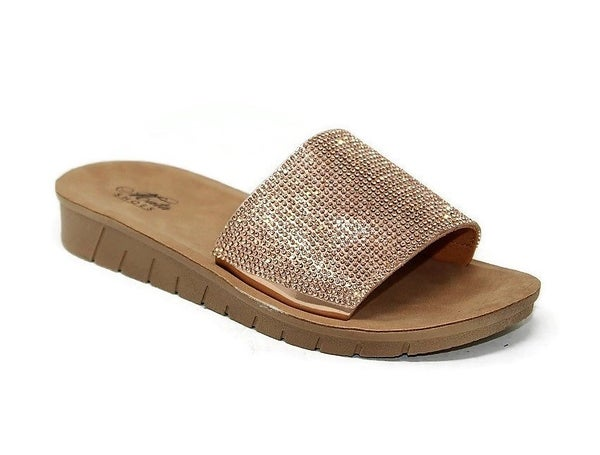 Mata Shine | Rose Gold Sandals