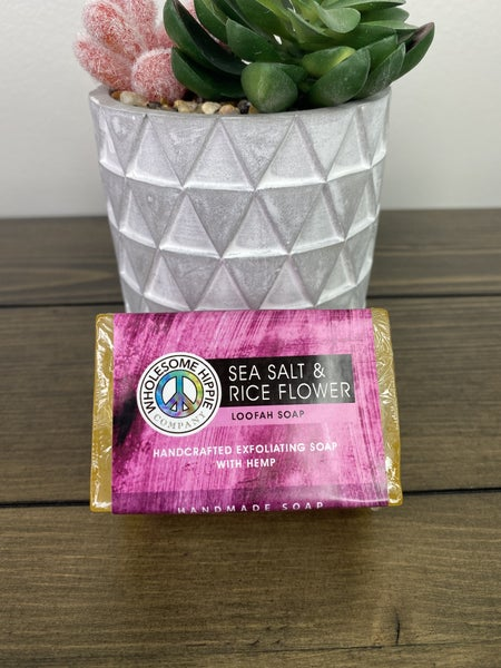 WH 4.5oz Sea Salt & Rice Flower Loofah Soap