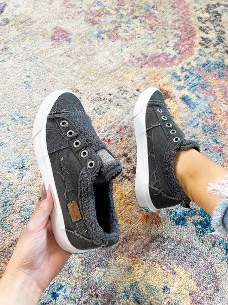 "Blowfish ""Playdoe"" - Black Smoked Canvas Sneakers"