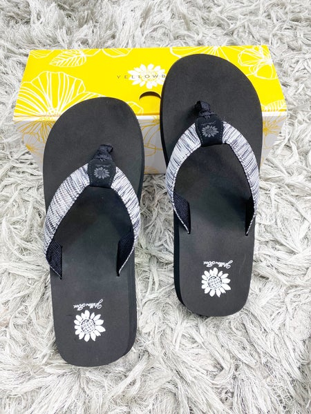 Yellow Box Fayne - Gray Flip Flop