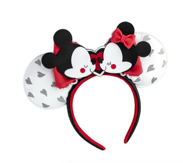 LOUNGEFLY X DISNEY MICKEY AND MINNIE MOUSE HEADBAND