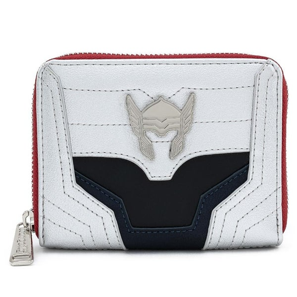 !LOUNGEFLY X MARVEL THOR CLASSIC COSPLAY ZIP AROUND WALLET