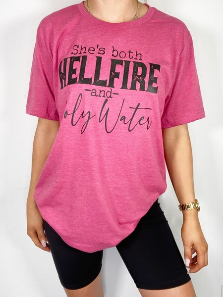 She's Both Hellfire and Holy Water Graphic Tee