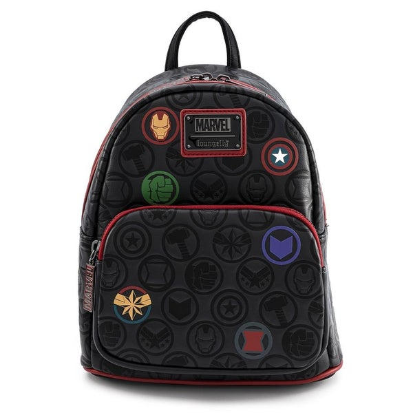 LOUNGEFLY X MARVEL AVENGERS DEBOSSED ICONS MINI BACKPACK