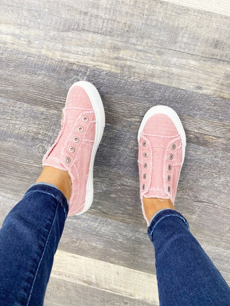 Size 7 ONLY - Blowfish Play - Dusty Pink Hipster Smoked Twill