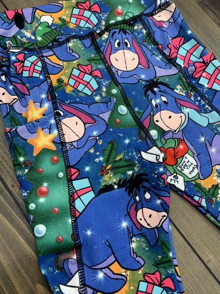 LAST PAIR SIZE L/XL Christmas Kids Eeyore Leggings