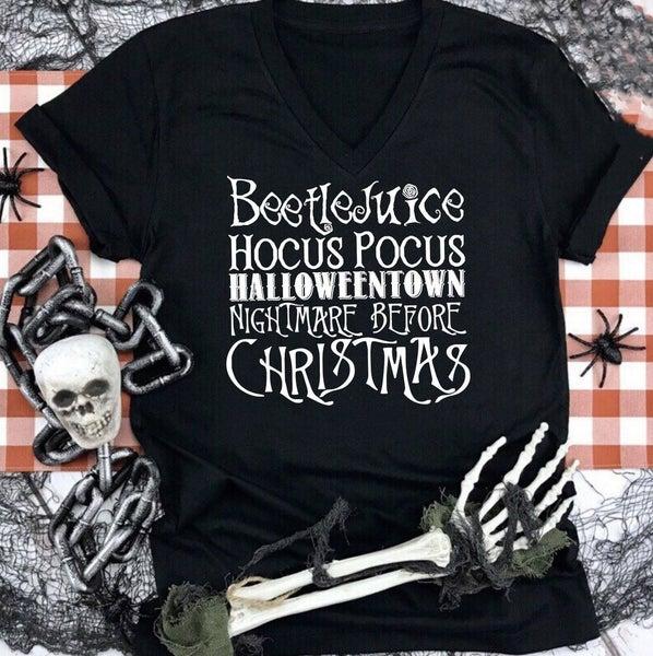 Halloween Movie List Graphic Tee