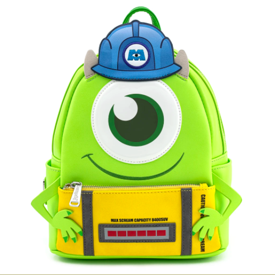 LOUNGEFLY X PIXAR MONSTERS INC. MIKE WAZOWSKI SCARE CAN COSPLY MINI BACKPACK