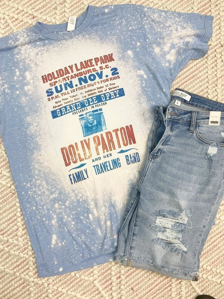 Dolly Parton Bleached Graphic Tee