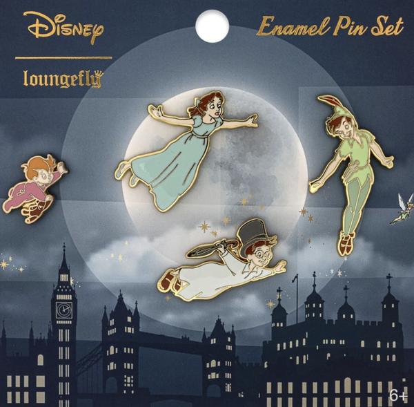 Loungefly Peter Pan 4 Piece Enamel Pin Set