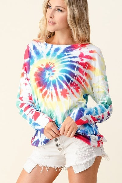 Long Sleeve Tie Dye Top