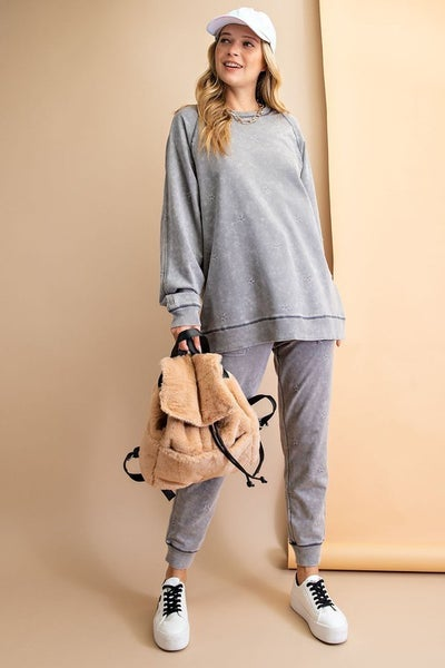 Living in the City Pullover Top in Ash