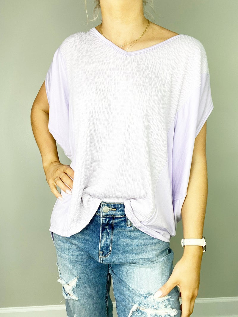 3X ONLY Lilac Boxy Top