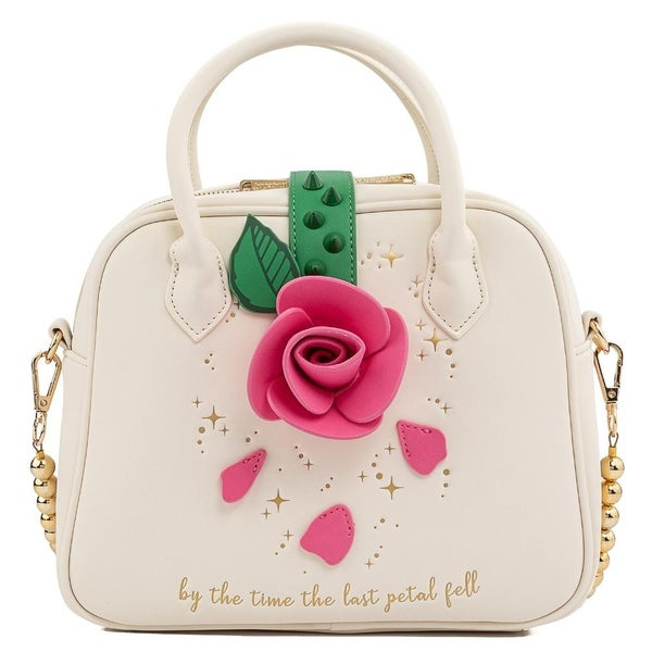 LOUNGEFLY X DISNEY BEAUTY AND THE BEAST ROSE CROSSBODY BAG
