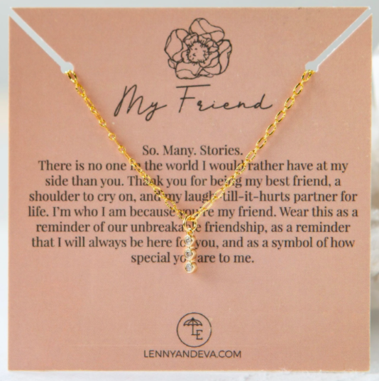 For Her Pendant Necklace, Friend