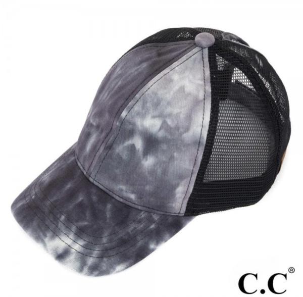 Black C.C. Pony Hat