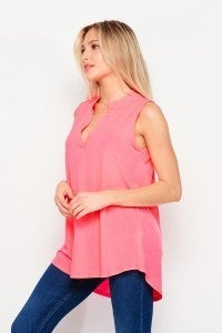 3X ONLY Solid Sleeveless Gabby - Neon Pink