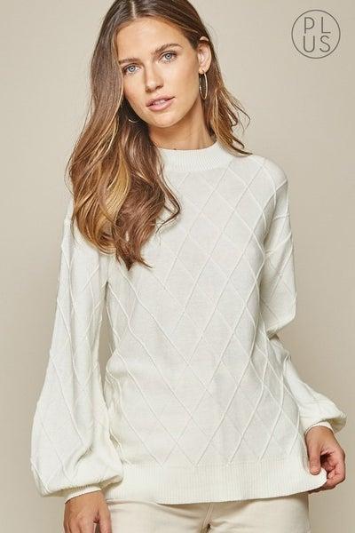 Ivory Balloon Sleeve Sweater