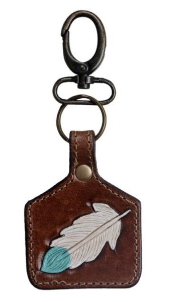 Azure Quill Keychain