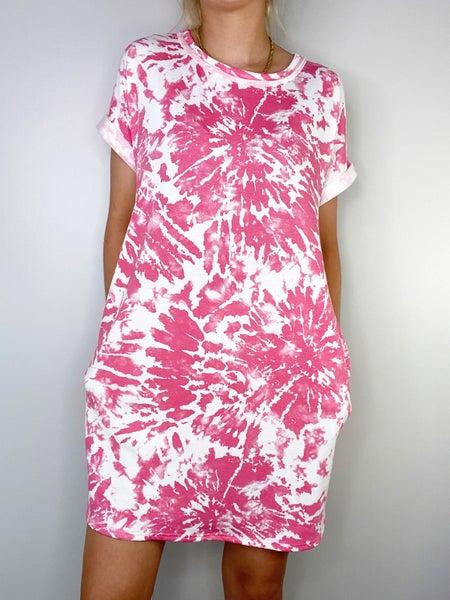 SMALL ONLY HoneyMe Pink Burst Dress