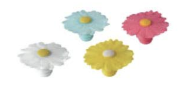 Daisy Bottle Stoppers ***MULTIPLE COLORS***