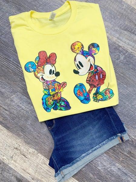 Technicolor Minnie & Mickey Graphic Tee