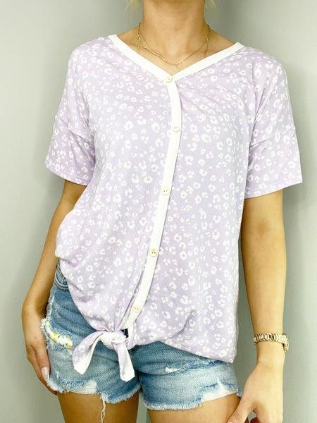 SM & MED ONLY - Lavender V-Neck Top