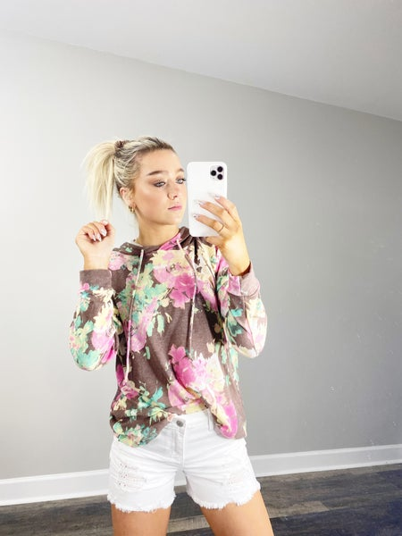 Camel and Pink Hoodie