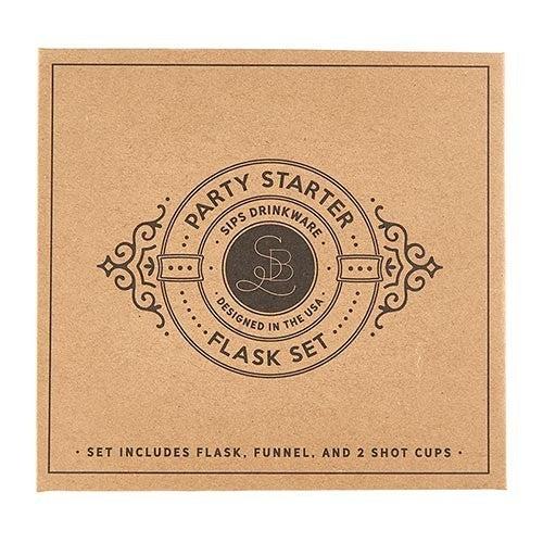 Cardboard Book Set - Flask