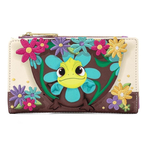 !LOUNGEFLY X DISNEY TANGLED PASCAL FLOWER FLAP WALLET