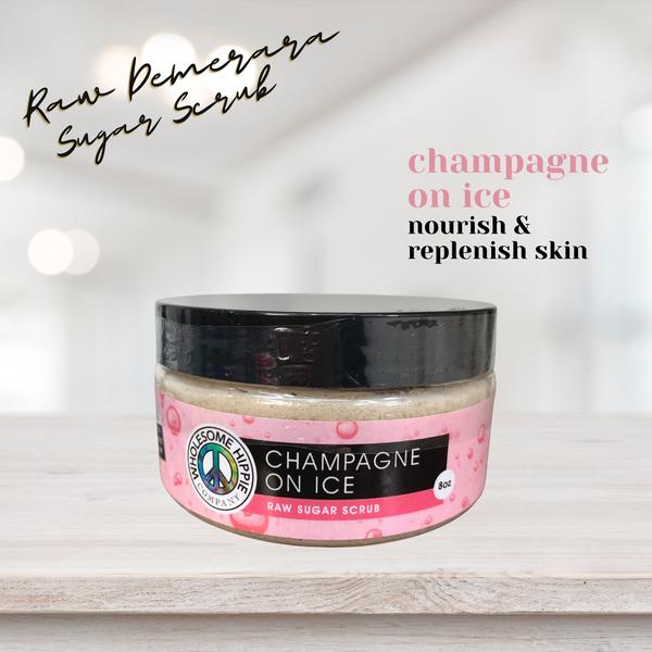 WH Champagne On Ice Raw Sugar Scrub - 8oz