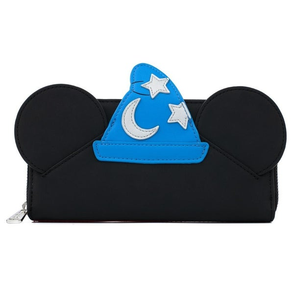 !LOUNGEFLY X DISNEY FANTASIA SORCERER MICKEY MOUSE COSPLAY ZIP AROUND WALLET