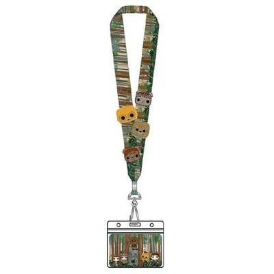 POP BY LOUNGEFLY EWOKS LANYARD WITH 4 ENAMEL PINS