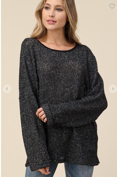 Low Gauge Fine Charcoal Sweater