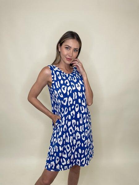 Royal Animal Print Dress