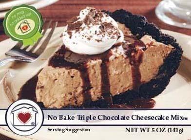 No-Bake Triple Chocolate Cheesecake Mix