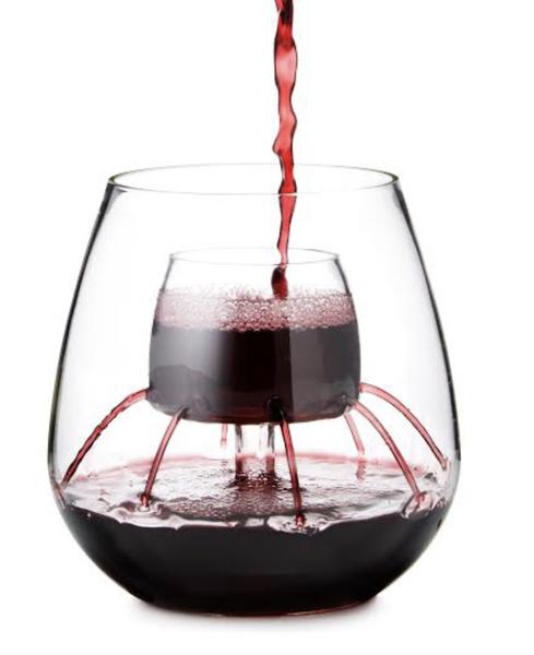 Chevalier Stemless Aerating Wine Glass (Set of 2)