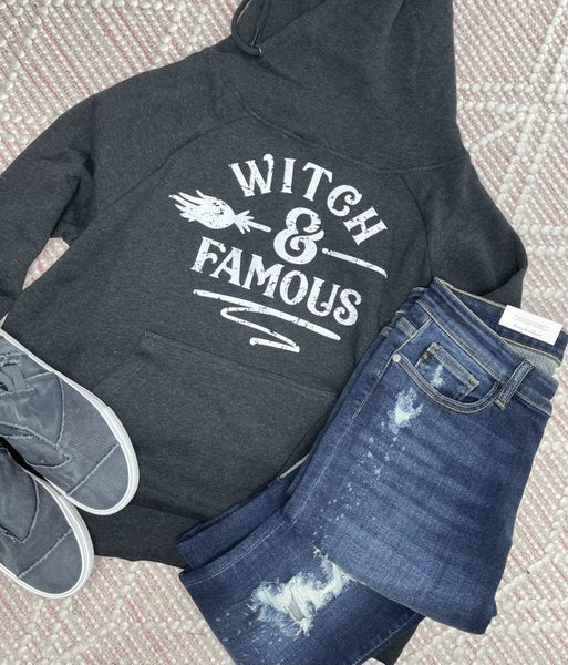Witch & Famous Charcoal Graphic Hoodie