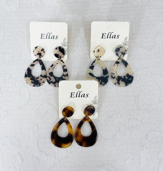 Tortoise Drop Style Earrings