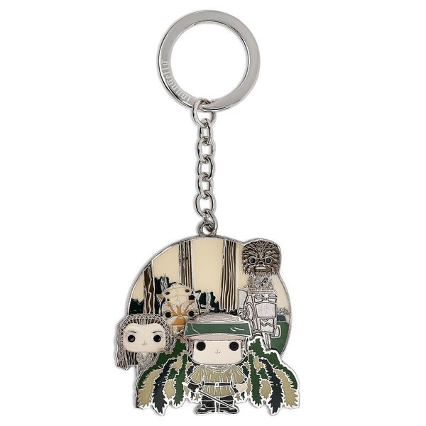 FUNKO POP! X STAR WARS ENDOR GROUP ENAMEL KEYCHAIN
