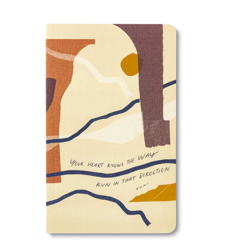 """""""Your heart knows the way. Run in that direction.""""  Soft Cover Journal"""